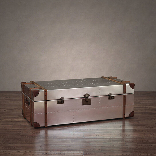 Buy Commander Aluminum Storage Trunk Coffee Table By Zallzo On Dot Bo