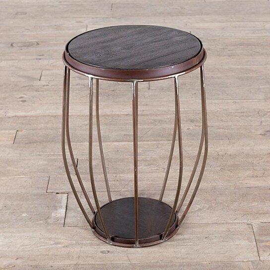 Prime Iron And Mango Wood Round Metal Stool End Table Ibusinesslaw Wood Chair Design Ideas Ibusinesslaworg