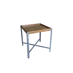 Piper Handmade Wood and Metal End Table
