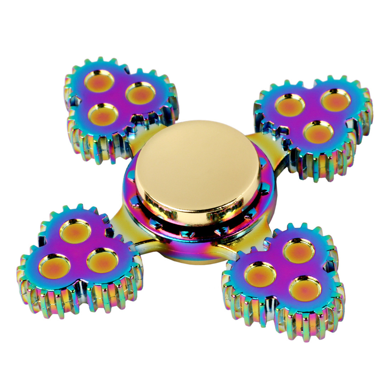 1x US Stock Four Fidget Alloy Hand Spinner Focus Toy EDC Finger Spin Gyro Adhd 59c4be3c2a00e469040264e0