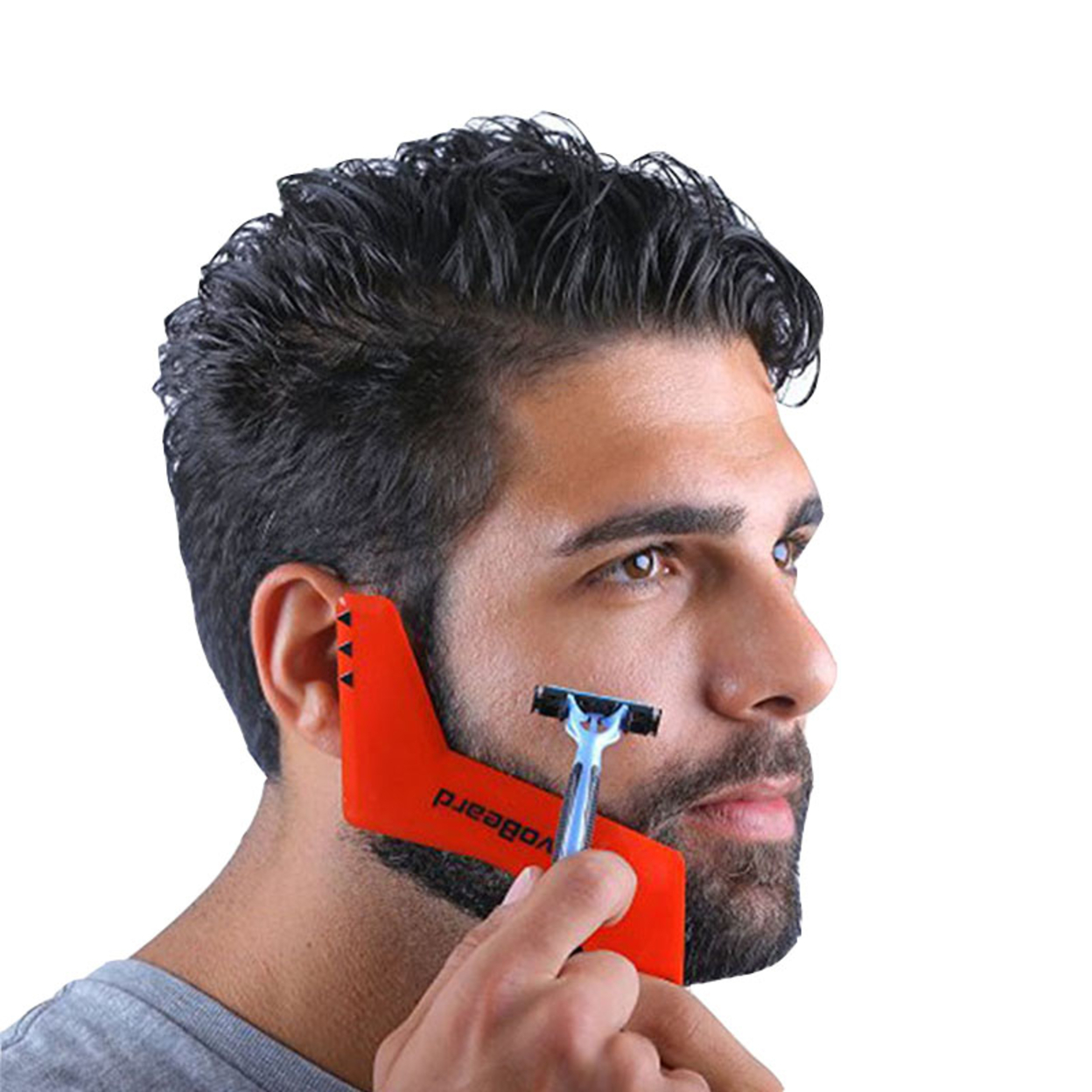 Beard Styling Comb Shaping Tool Mustache Face Irregular Shaving Gifts for Men 59c4be362a00e458ee098f54