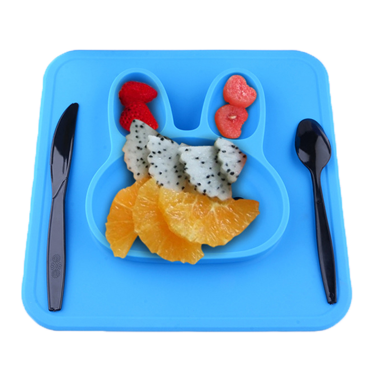 Bunny silicone plate food grade - blue 5a067903cd5c8624d8611f13