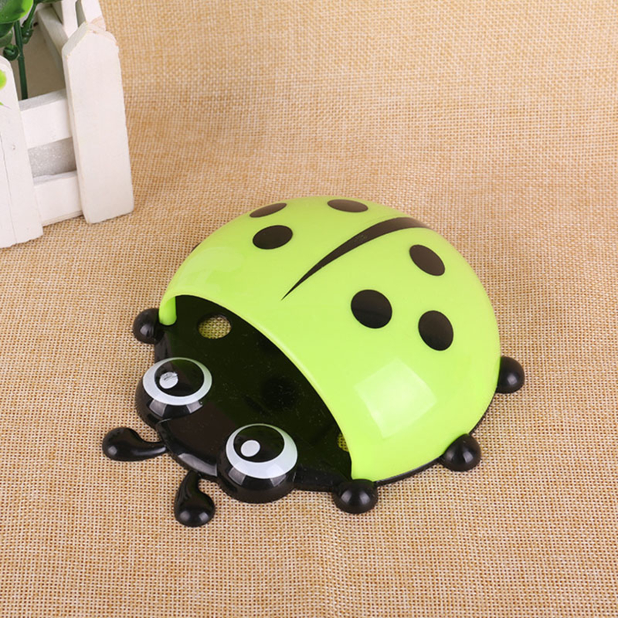 Creative Seven Star Ladybug Toothbrush Holder Strong Sucker Toothbrush Green New 59c4be3ae2246139b27948cc