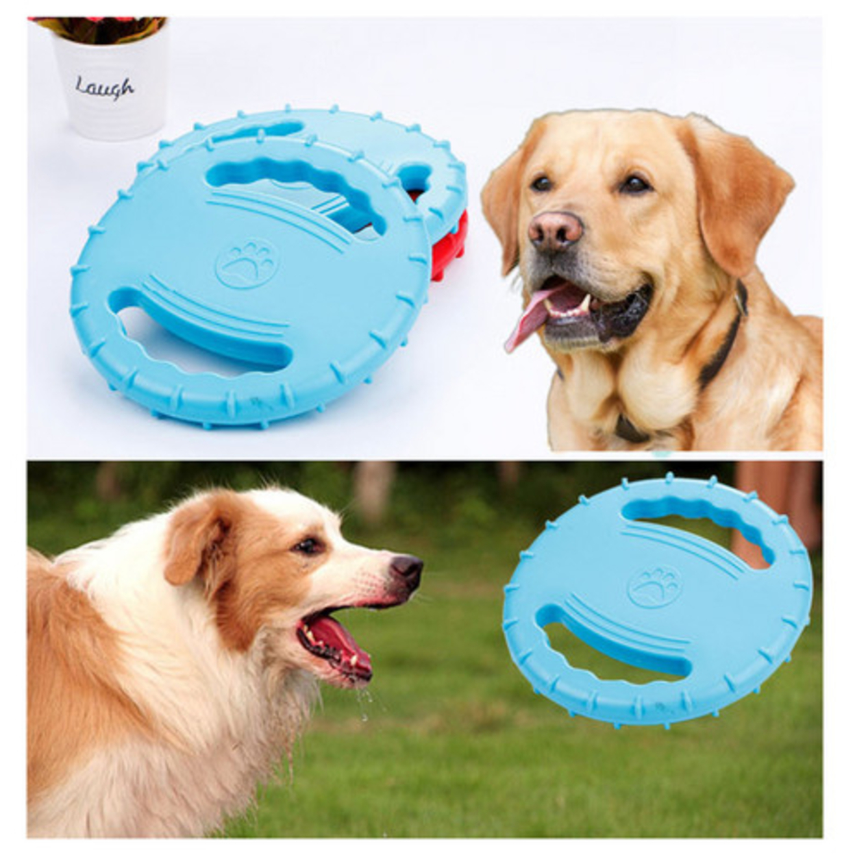 Indestructible Dog Flying Disc Frisbee Toys Frisbee -blue Eco-friendly Non-toxic - red 59fab2c799336a020010eb38
