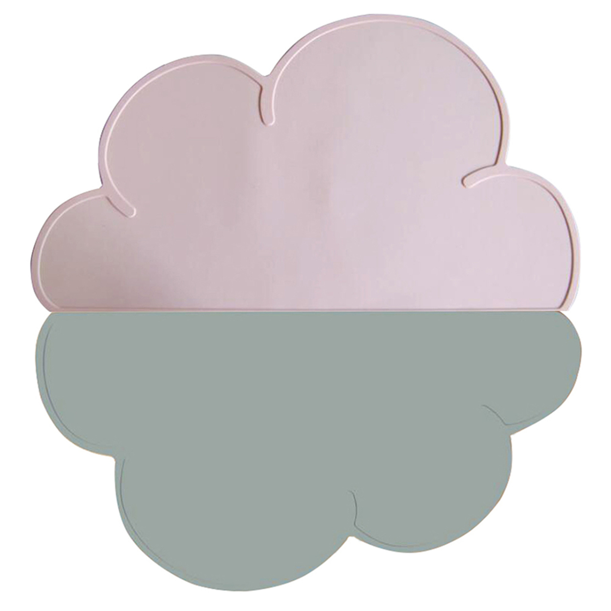 Jypc Kids Silicone Cloud Placemat Dinnerware Table Mat, Washable Portable Place Mats, Pink/Grey 59c4be3be2246139c869d4c8