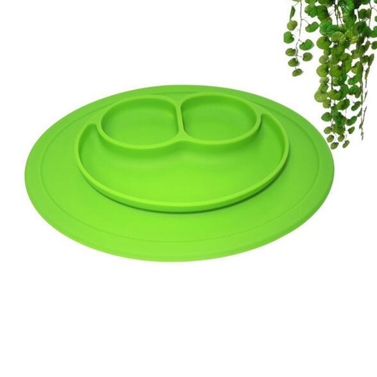 Kuke Lovely Silicone Kids Suction Table Food Tray Placemat Plate Bowl Happy Dish 59c4be3be2246139876c6b8a