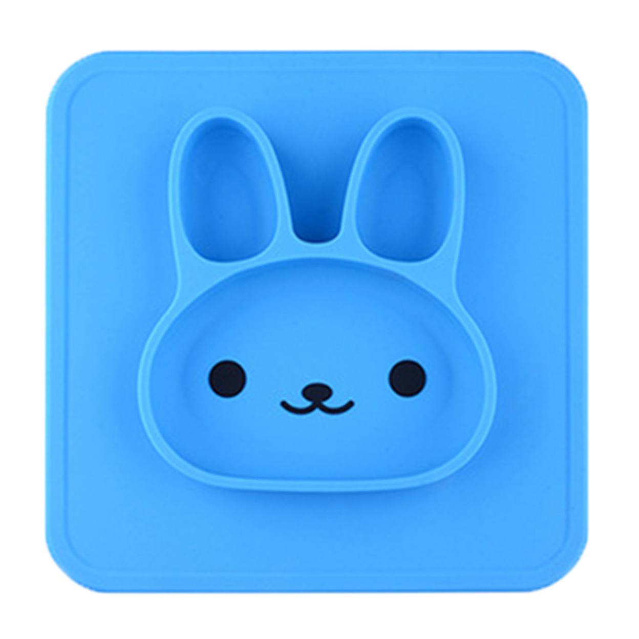 New Beauty Rabbit Cartoon Food Grade Silicone Plate Fruits Dishes Bowl for Kids 59c4be3b2a00e459651cf4d3
