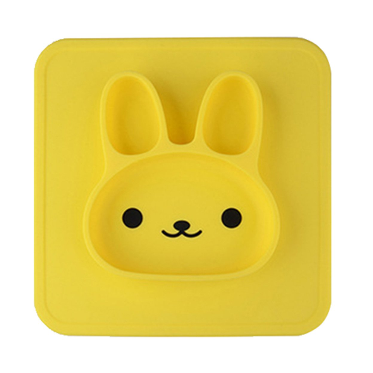 Rabbit Cartoon Food Grade Silicone Plate Fruits Dishes Children Kids Gifts Bowl 59c4be3be2246139876c6b90