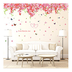 Removable Wall Sticker Home Decoration Self-Adhesive Romantic Bedroom Flower Tree Series Sticker