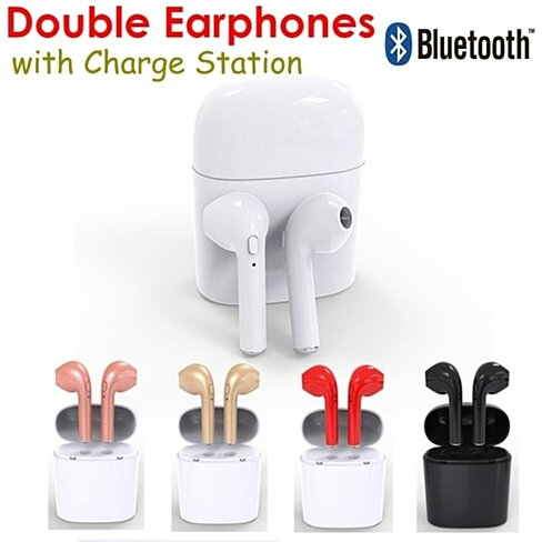 Bluetooth Ear pods With Charging Box- Assorted Colors