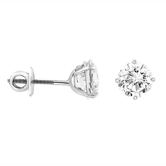 a8e838135 Buy 2CTTW CZ Sterling Silver Screw Back Stud Earrings by ZilverZoom on  OpenSky