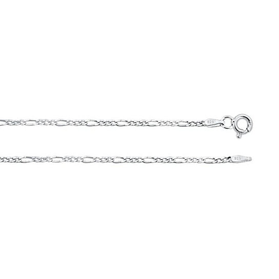 a7fe84b431bf4 Sterling Silver .925 Figaro Necklace Chain 1.8mm 16