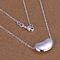 Sterling Silver Kidney Bean Necklace