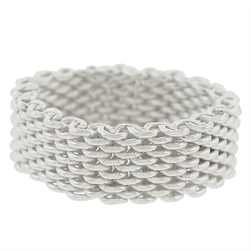 buy sterling silver mesh ring by zilverzoom on opensky