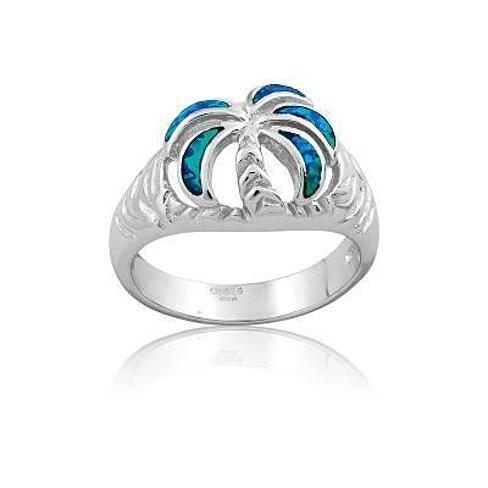 buy sterling silver opal palm tree ring by zilverzoom on