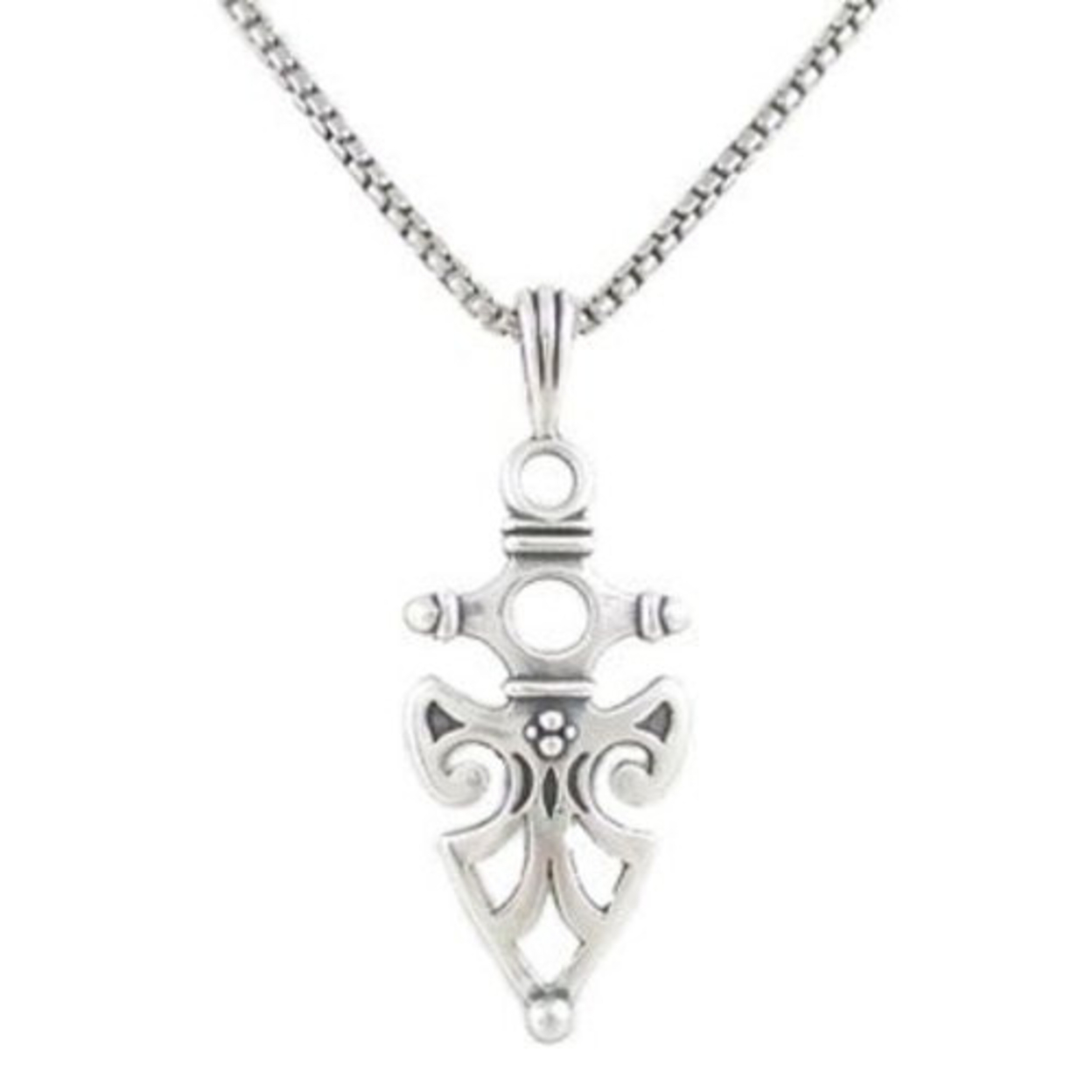 Celtic Arrowhead Protection Necklace In Sterling Silver, #8203