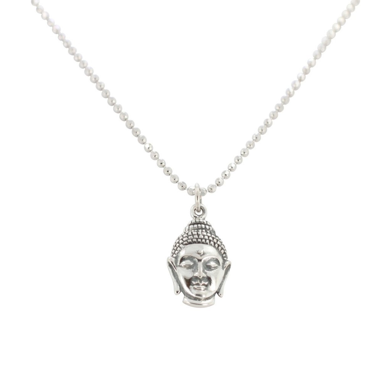 Buddha Necklace In Sterling Silver On 16 Or 18 Inch Chain, #6778