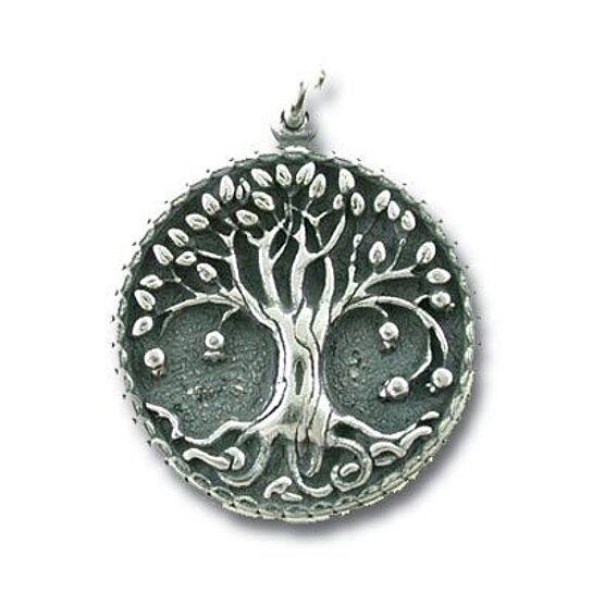 Buy very detailed round family tree of life pendant in for What is the meaning of the tree of life jewelry